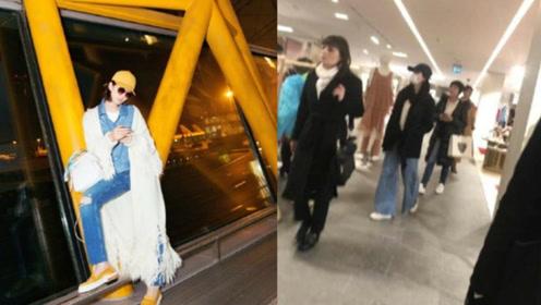 刘诗诗米兰逛街被偶遇 全副武装依旧被认出