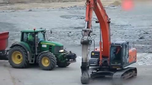 挖掘机修飞机场,步伐整齐似跳舞