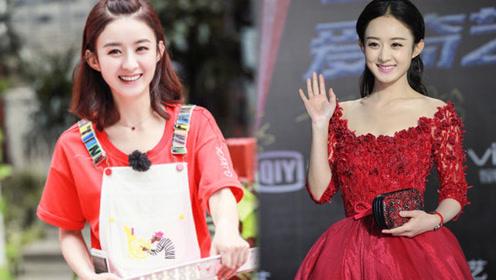 赵丽颖一身重工红裙端庄大气亮相 这是要走国际范了么?