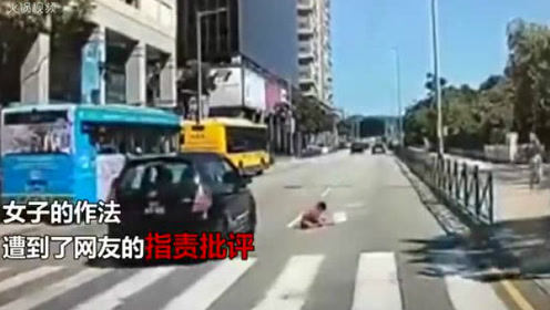 男孩过马路被撞倒 母亲冲上居然这样!