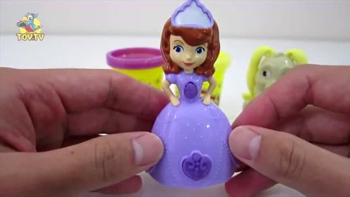 小公主苏菲亚与clover幸运草培乐多彩泥套装系列玩具