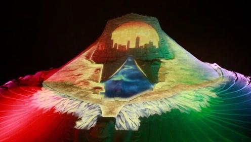 台湾福隆沙雕节,精美沙雕和迷幻彩灯打造视觉饕餮