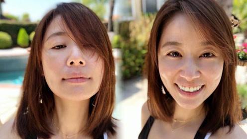 42岁林心如不开滤镜 素顏拍照连鼻头的毛孔都很清楚