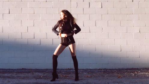 美国小姐姐Autumn翻跳CLC《BLACK DRESS》热裤美腿小蛮腰好迷人