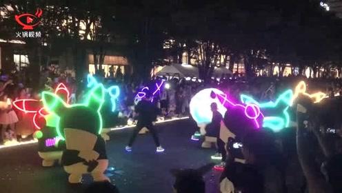 被萌到了!上千只皮卡丘占领横滨街头