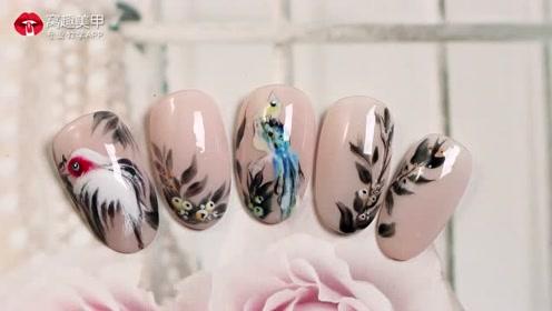 优雅中国风雀上枝头