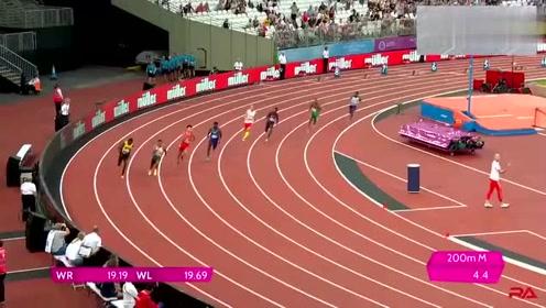 世界田径锦标赛,男子200米决赛,中国名将奋力直追!