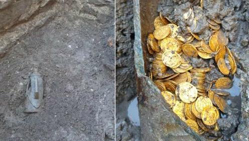 意大利剧院拆迁竟发现罗马帝国金币 仅一小罐价值数千万