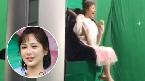 杨紫做过山车拍戏看到背后的场景 网友:这演技真6我服了!