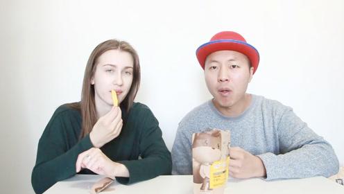 外国美女爱上了中国的零食,特别是这个芒果干