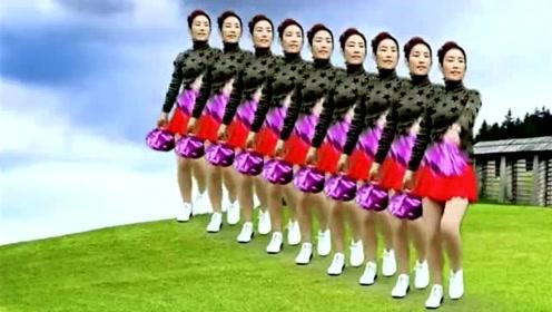 经典红曲广场舞《大中国》壮观花球舞,我爱我的祖国!