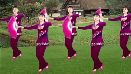 热门扇子秧歌舞《福满农家》,让我们一起扭起来!