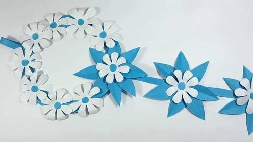 简单漂亮的手工折纸吊环,看几遍就能学会,用来做装饰太亮眼了!