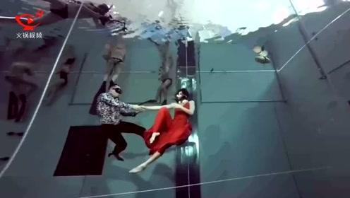 这对组合水下憋气三分半表演舞蹈 还破了世界纪录