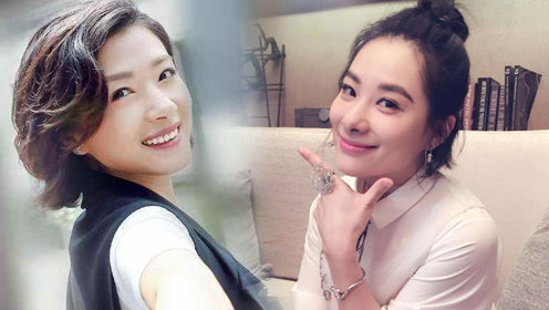 短发的刘璇撞脸万茜似亲姐妹 两人网上隔空互喊回家吃饭