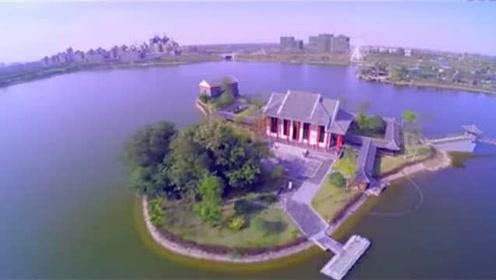 高清航拍,按国家4A级景区建设的,安徽六安悠然兰溪风景区!
