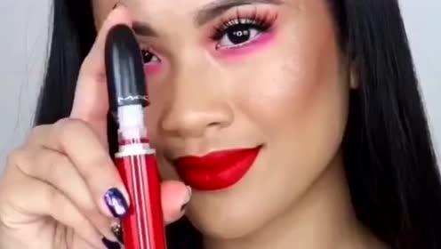 三种不同红色的Mac唇釉,无论哪一款都好美