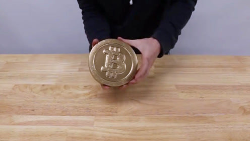 牛人用铜制作一枚比特币 网友:这是要发财了