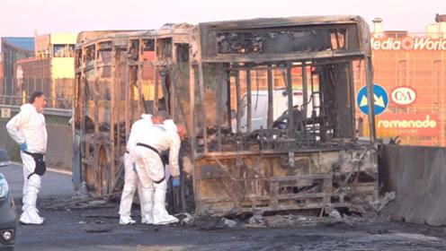 意大利校车司机不满移民政策劫车纵火 警方惊险救出51名学生