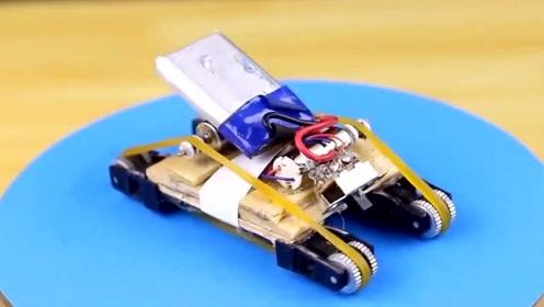 小伙拆了4个火机, 自制了一台玩具小汽车, 速度快到无法形容