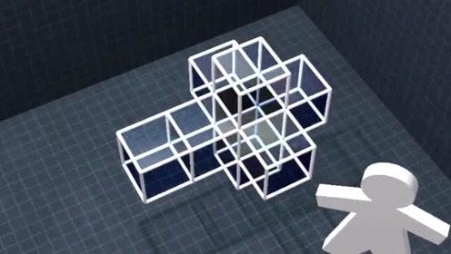 四维超正方体,展开是8个正方体,你能理解吗?