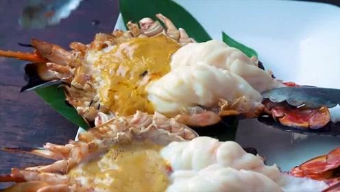 美食圈:超级大的泰国对虾,泰国曼谷的终极海鲜体验