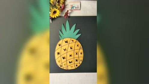 手工制作立体菠萝