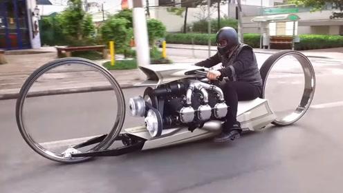 摩托车装上飞机的发动机,如果加装一个翅膀,是不是就能上天了?