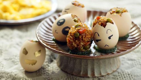 鸡蛋玩出新花样,好玩又好吃的糯米蛋