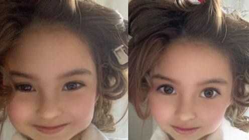 昆凌晒童颜照像洋娃娃,网友故意将眼睛P小称这是女儿小周周