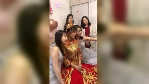 新娘是一位演员吗,怎么颜值这么高?