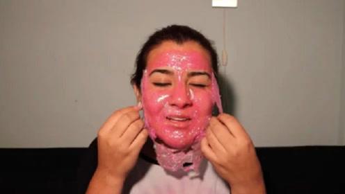 作死女挑战在脸上涂100层指甲油,撕下那一刻,想死的心都有了