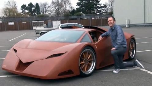 耗时5年,小伙用木头打造跑车,最高时速380km/h