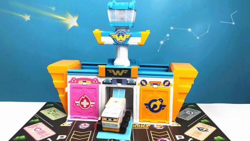 超级飞侠智机场大玩具机库!国际v机场路奇变形车!prformac教程图片