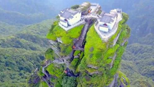 全球最危险房子建在千米险峰上,回家要翻山