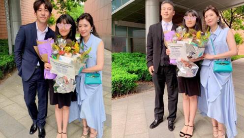 贾静雯前夫现身女儿毕业典礼,孙志浩白发苍苍,与贾静雯大方合照