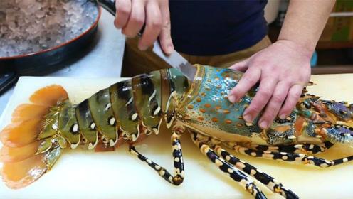 国家一级厨师刀工有多厉害?切龙虾的瞬间,不得不服!