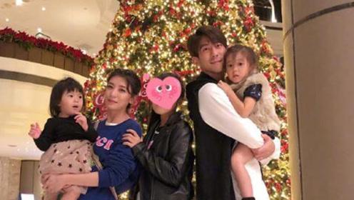 修杰楷陪三女儿逛街好有爱 这样的重组家庭孩子很幸福