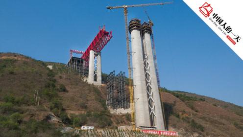 """154米世界铁路""""第一高墩"""",基建狂魔又创纪录"""