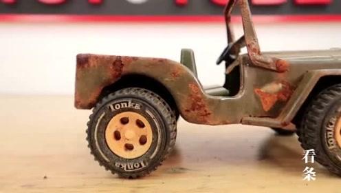 生锈的吉普车修复,老外哪来的这么多闲时间,天天修这些没用的