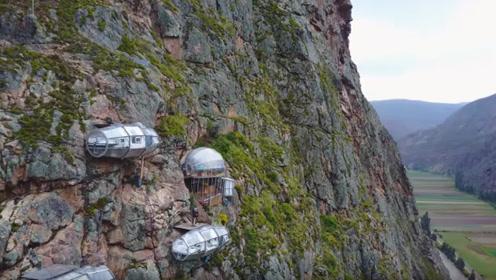 挂在4000米悬崖上的玻璃小屋,住一晚3000元,你敢尝试吗