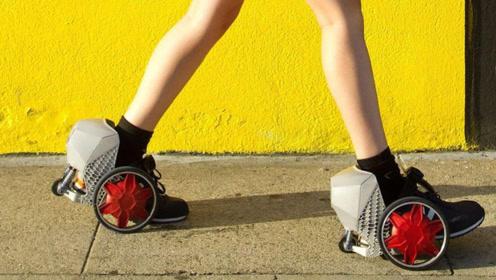 世界上最小的电动车,穿在脚上就像溜冰鞋,时速达24km/h!