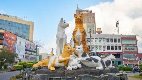 全球唯一以猫起名的城市,街上都是猫的雕像,还有猫的博物馆