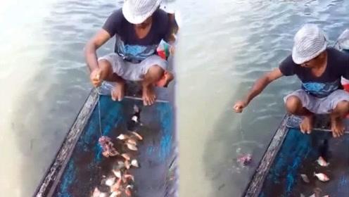 男子教如何钓食人鱼 看到真的双腿发软
