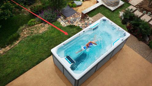 世界最小游泳池长度仅2.5米,怎么游也游不到尽头!到底咋回事