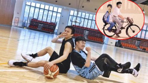 陈赫亲自p图做海报宣传邓超新电影,骑二八自行车载邓超太搞笑了
