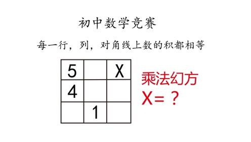 初中数学竞赛,乘法幻方了解一下?一般人我不告诉他