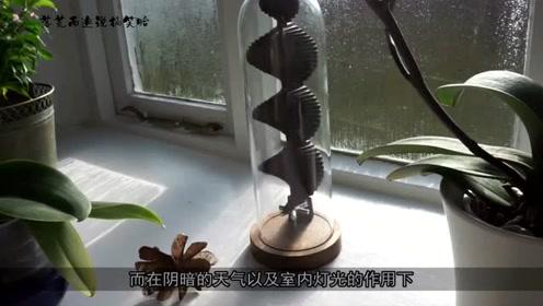 治愈系,太阳能螺旋塔,室内灯光也能转,解压神器