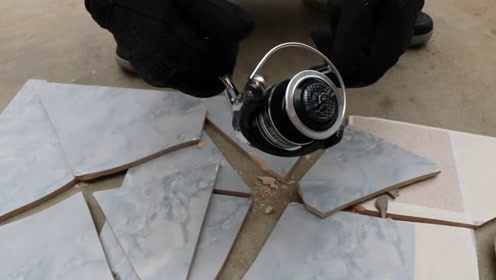 金属纺车轮暴力测试,话不多说就是砸!