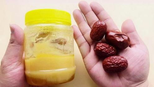 蜂蜜倒在红枣里这么厉害,解决很多男女人的烦恼,早知道就好了!
